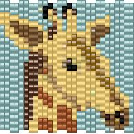 giraffe - bead-it-forward.com  - free patterns for 2015 Bead-It-Forward Quilt Project