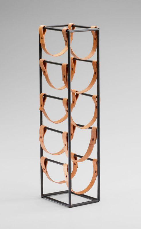 "Cyan Design 04914 21"" Large Wine Rack Raw Steel Home Decor Organization Wine Racks"