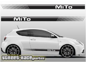 Alfa Romeo MiTo vinyl racing stripes