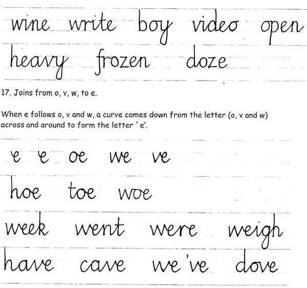 Nelson Handwriting