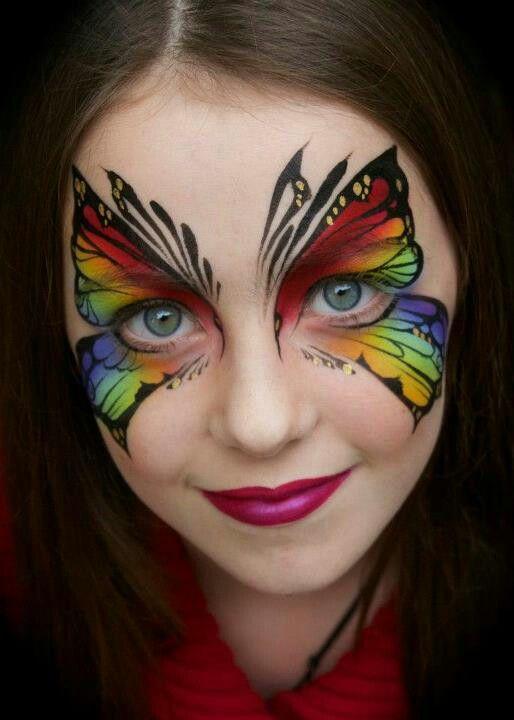 Artist Jenny Saunders face paint butterfly mask