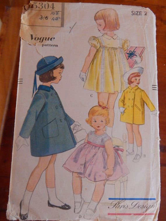 1960s Dress and Coat Vogue 5304 size 2