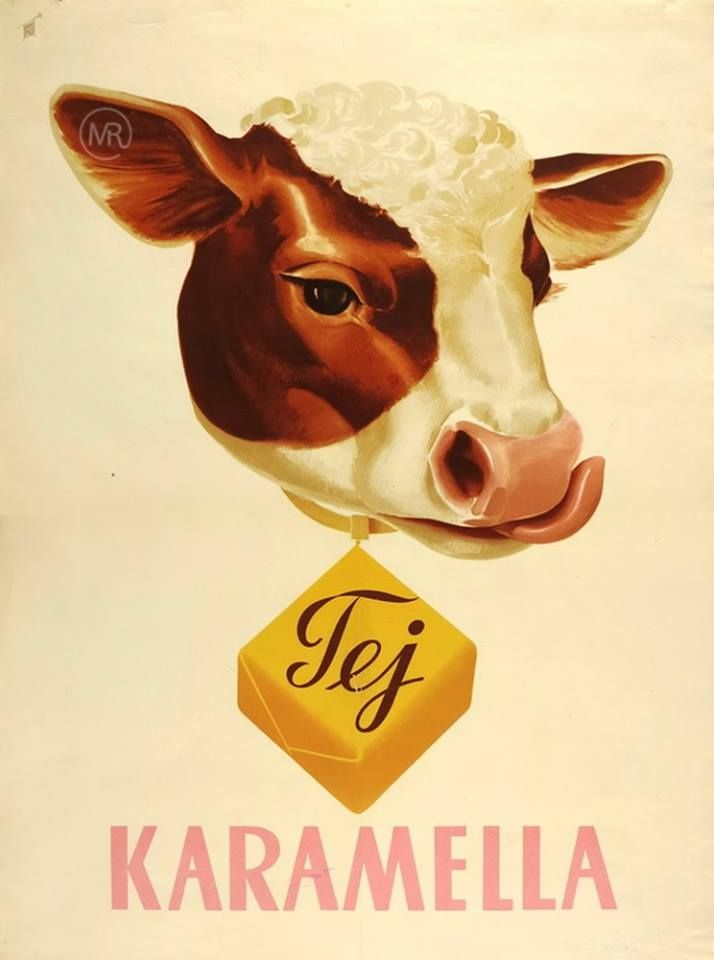 vintage Hungarian advertisement for Tej caramel