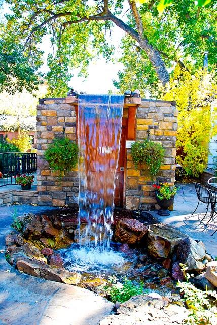 the Patio Fountain at Beso de Arte - Morrison, Colorado by Rockin Robin, via Flickr