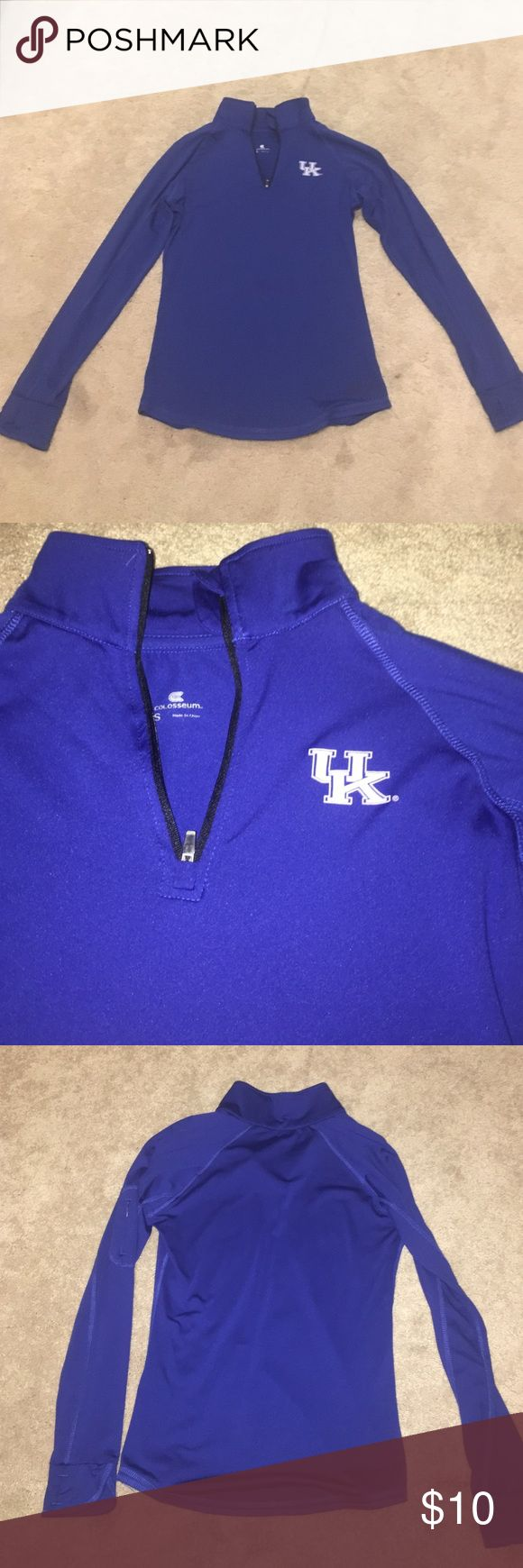 University of Kentucky Athletic Pullover This pullover has a very stretchy breathable material and is perfect for the gym or running or just supporting your favorite team. Go Cats! Jackets & Coats