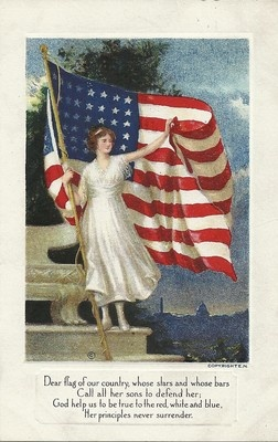 Red White and Blue: Dear Flag, Postcards, Flags, American Flag, Red White