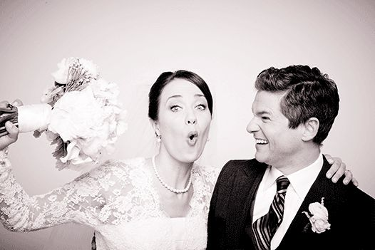 "The newlyweds making marriage look so damn good. | David Burtka And The Cast Of ""It Shoulda Been You"" Take Cute Wedding GIFs"