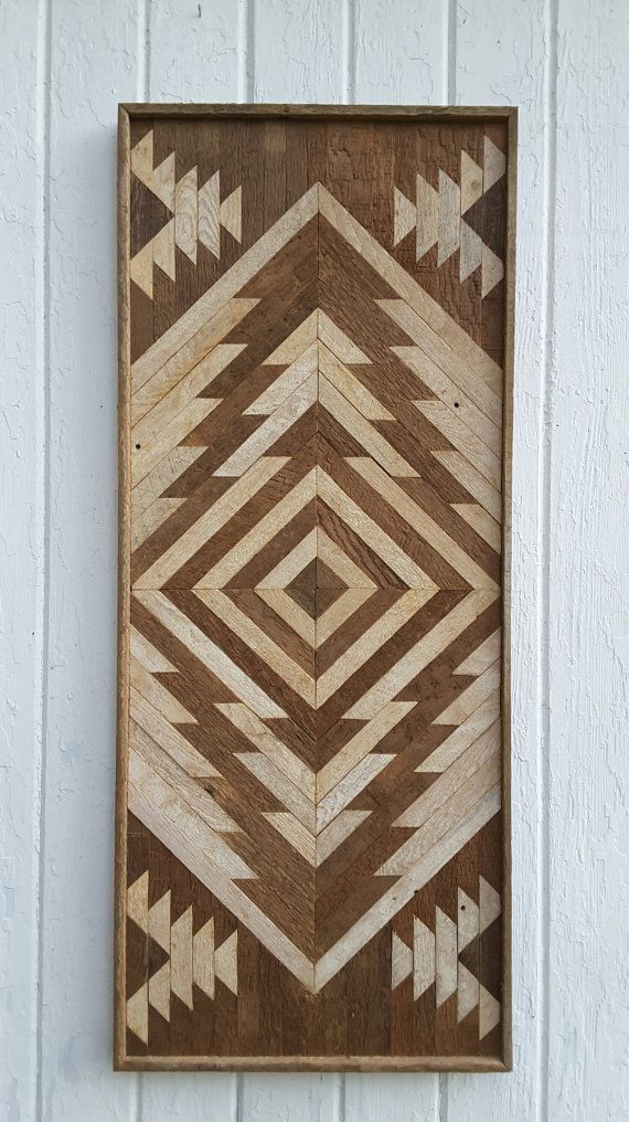 Reclaimed wood wall art, Chevron Diamond design, twin headboard or can be used as wood wall decor or made into a tabletop. Made from reclaimed wood lath from a church made in 1830 and from another old building. On sale, this twin headboard or wall art is ready to ship. This listing is for this size only, approx. 41 by 17 by 1.5 inches. It comes ready to hang vertically or horizontally on a small nail or two in the wall. Will arrive ready to hang on the wall. We also offer the Full, Queen…
