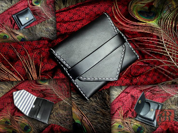 Hand-made leather wallet.