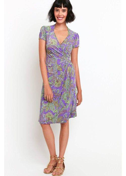 Onjenu Nicole Paisley Jurk Paars dress purple