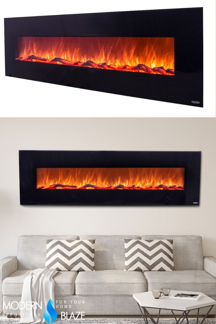Touchstone Onyx Xl 72 Wall Mounted Electric Fireplace 80005