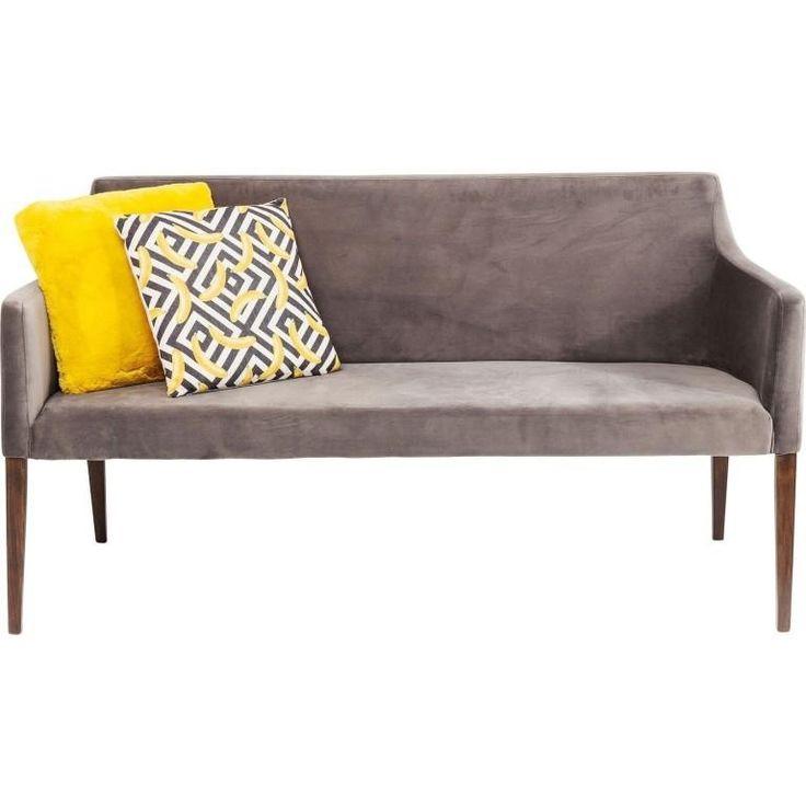 Polsterbank Mode Velvet Grey. Komfortable Polsterbank im grauen Design.  Weiter Modelle im Shop. #bank #sitzbank #leder #grau #grey #moebel #möbel #moebelpower #moebeltraeume #moebel_power