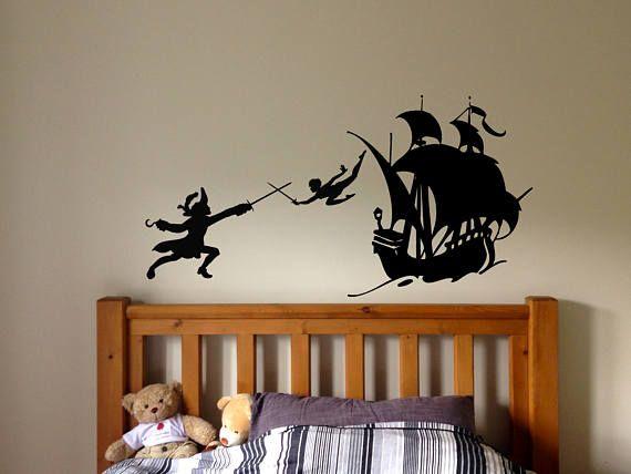 Mur autocollant sticker Peter Pan Londres dessin animé fée