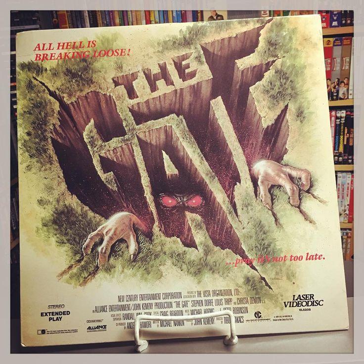The Gate 1987. Laserdisc. From Cinema Sickness's Instagram. Halloween Horrorthon 2016
