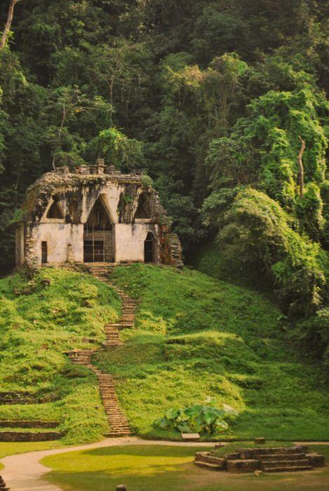 Chiapas, Mexico.  Where the jungle takes over.