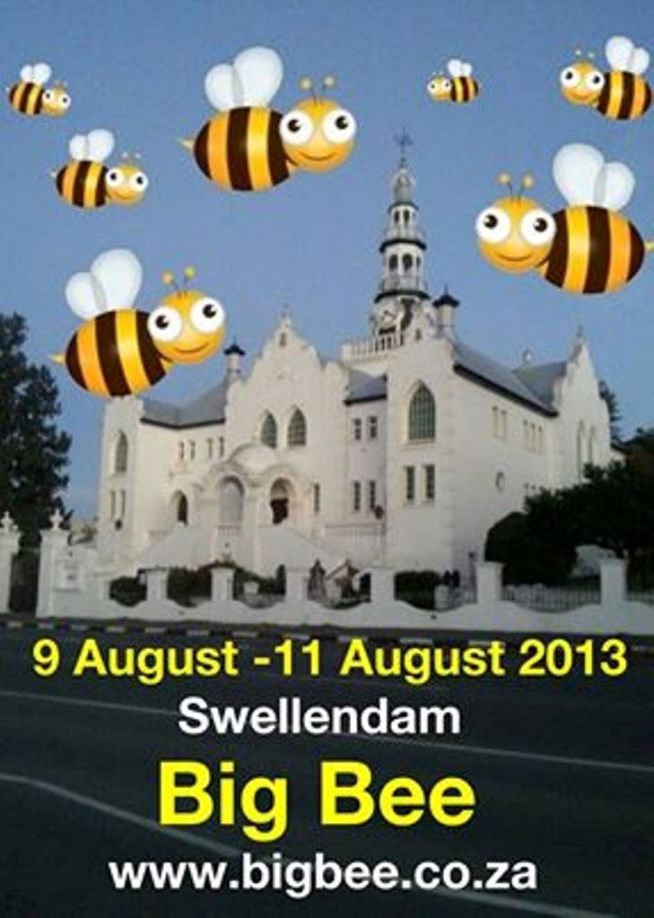 Big Bee Festival - Swellendam, 9 & 10 August. Don't miss the buzz!! Pop in at Moonshadow for our Big Bee Bohemian experience.  (#Bigbee • #Swellendam • #SouthAfrica)