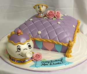 ms pots and chip beauty and beast cake by Amanda Oakleaf Cakes, via Flickr
