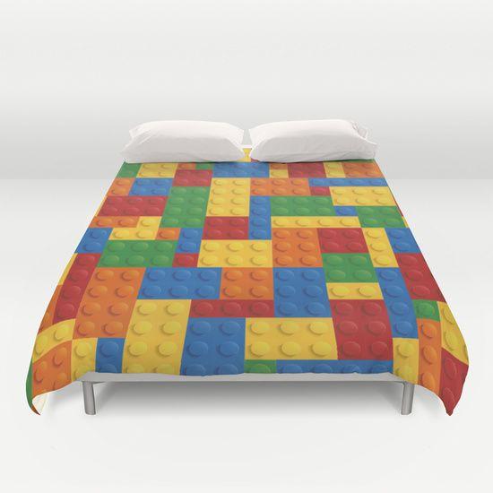 Lego bricks Duvet Cover   Duvet covers, Lightweight duvet ...