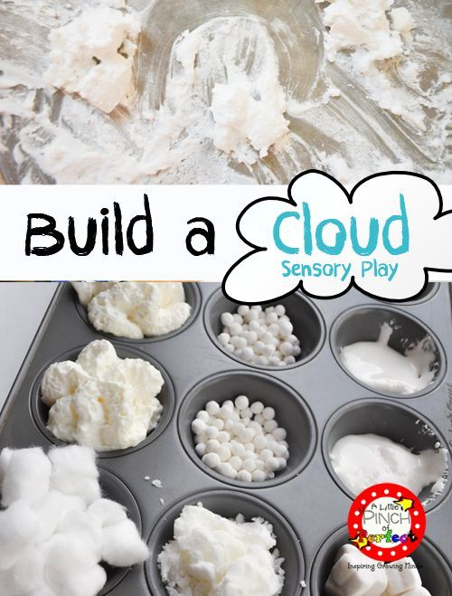 Letter of the Week Series: C is for Cloud sensory play with a list of taste safe supplies for tot school and preschool-PERFECT!