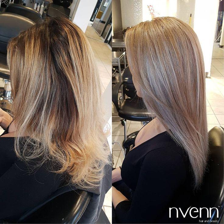 at nvenn, we LOVE BLONDE HAIR. after all, once you lighten your hair you can't help but love being blonde. #nvennblonde #blondehair #blonde #yychair #yeghair #nvennhairbeauty #nvenninc #edmonton #calgary #salon