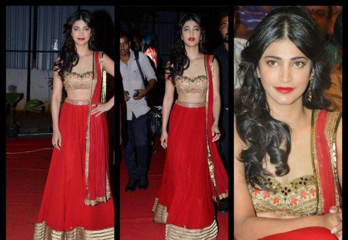 #Indian #Actress #Shruti #Hassan #Bollywood #designer #dresses