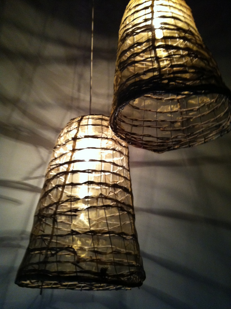 Lamps,  made of baskets (2006)