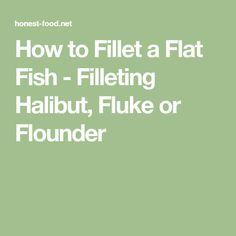 How to Fillet a Flat Fish - Filleting Halibut, Fluke or Flounder