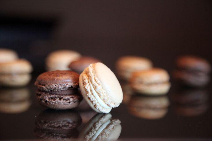 Cómo cocinar los deliciosos macarons de vainilla y chocolate.