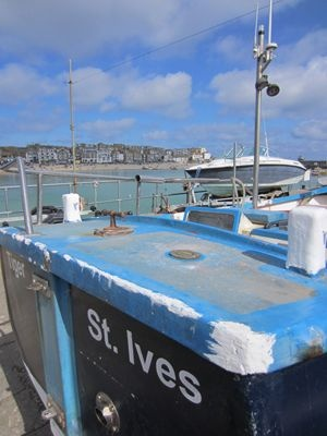 Boat in St Ives harbour