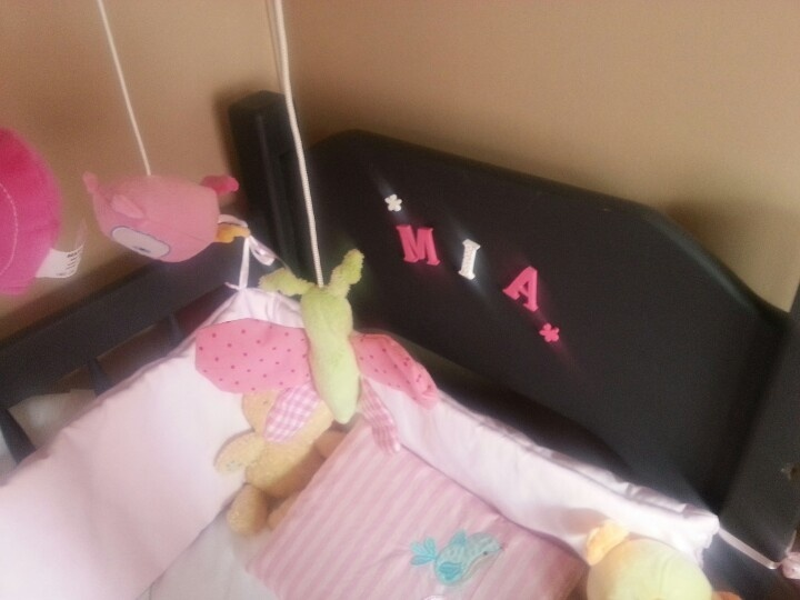 Her name in her cot