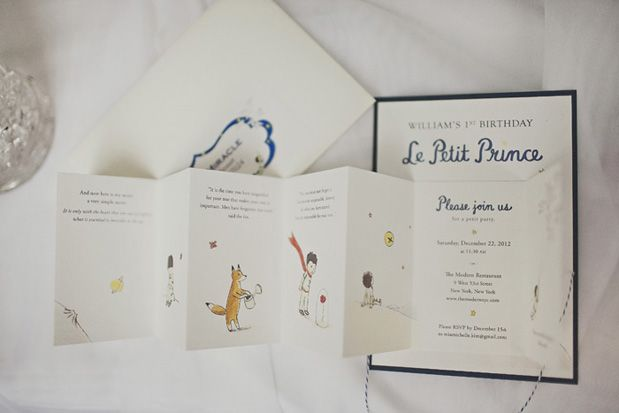Le Petit Prince first birthday invites so precious