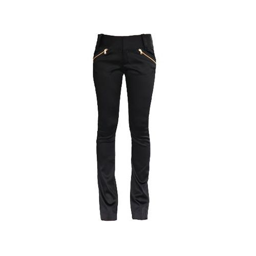 Satin Zipper Pants on TROVEA.COM