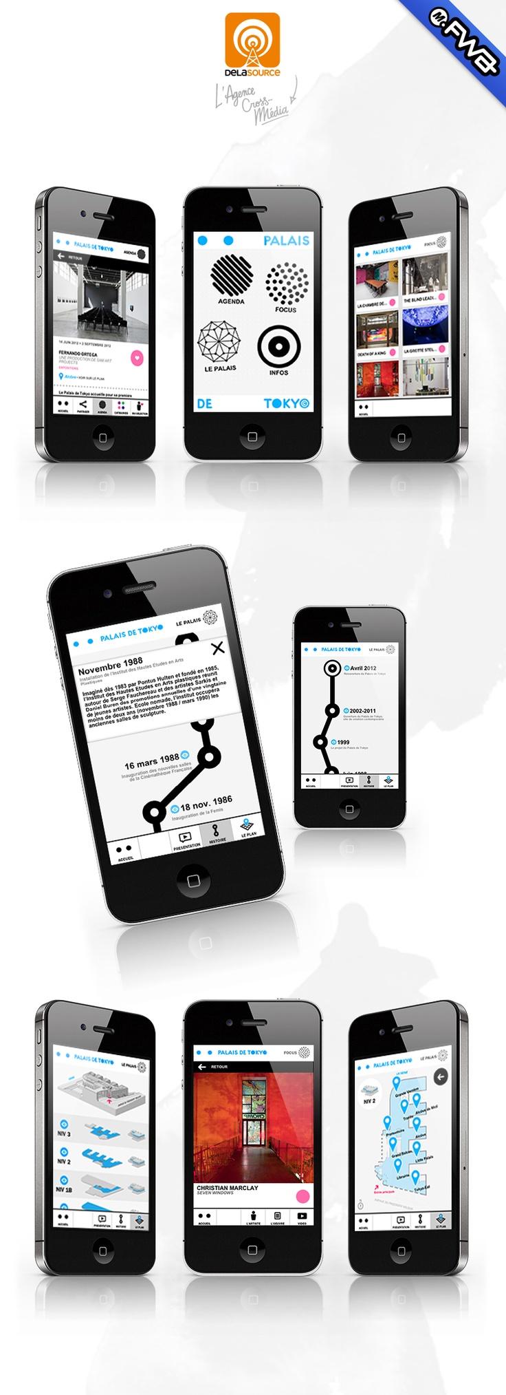 Palais de Tokyo app: designed and powered by © Delasource  (Palais de Tokyo / Orange) FWA : Mobile of the day award