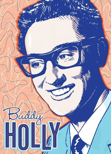 Buddy Holly - Pop Art Print - 13 x 19