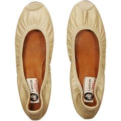 open-toe ballet flats
