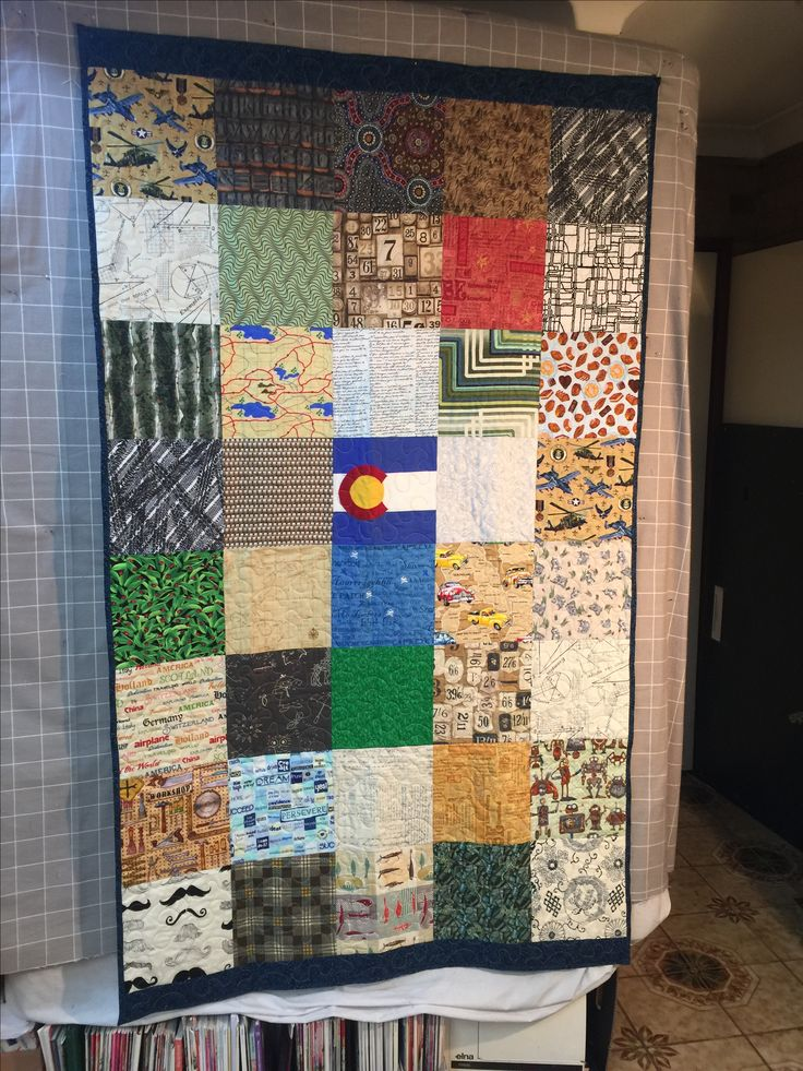 Hero Quilt for Stoffie, currently serving in Korea.