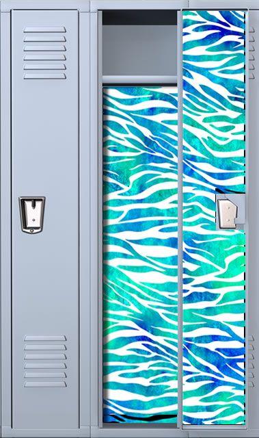 school locker decorations uk accessories canada zebra print teal watercolor wallpaper diy