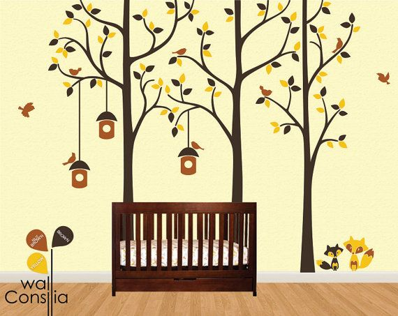 Best Wall Design Images On Pinterest Vinyl Wall Decals Wall - Yellow bird wall decals