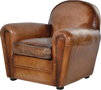 art deco vintage leather sofa armchair by alexander and pearl