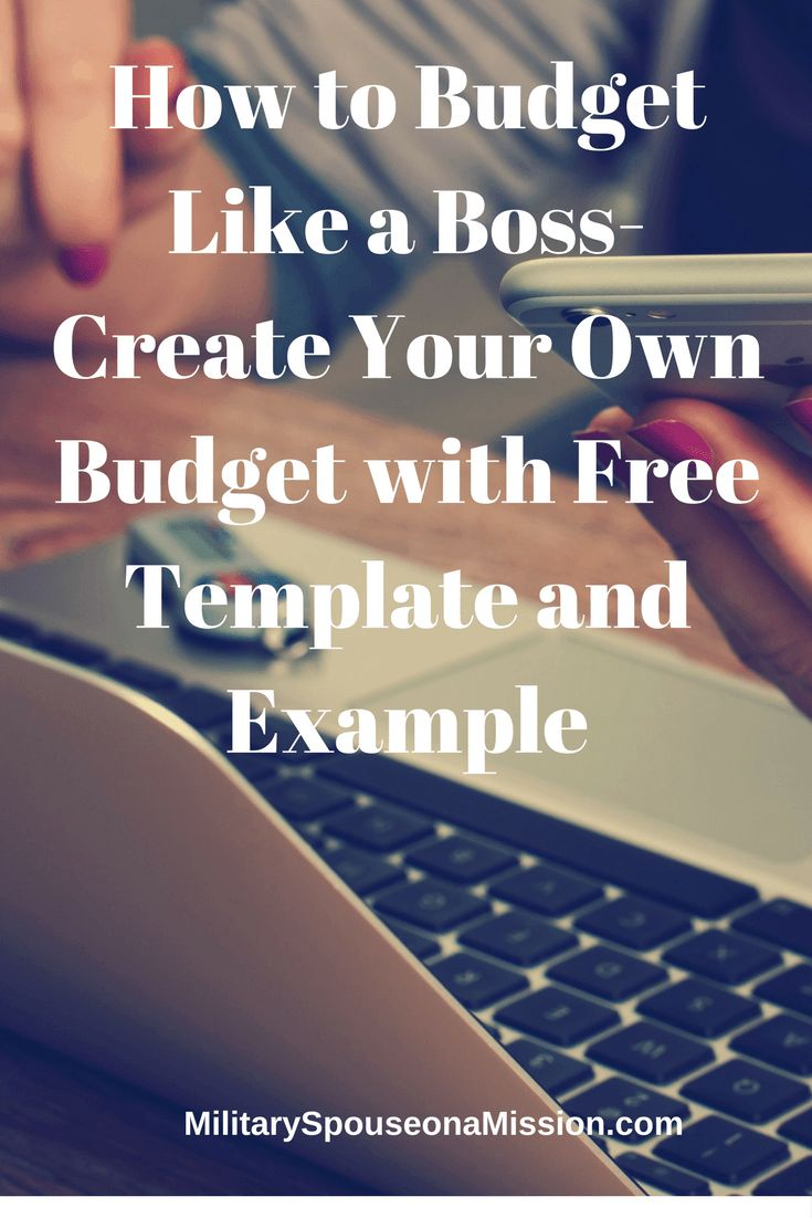 How to Budget Like a Boss- Create a Budget with a Template and Example