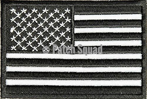 Black White and Reflective American Flag Patch - By Patch Squad