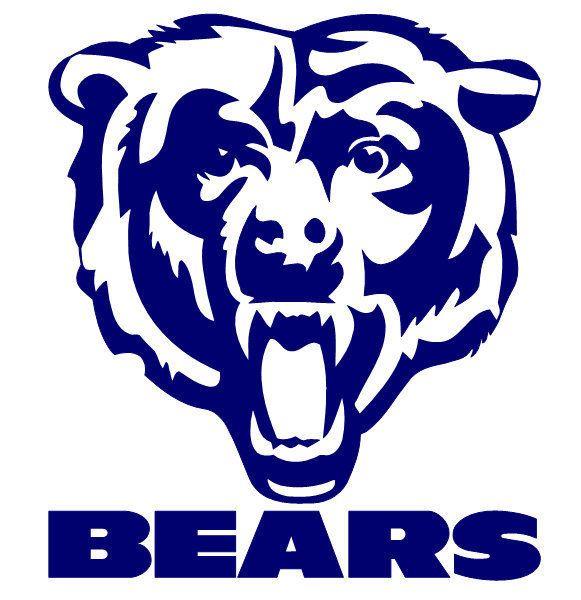 chicago bears logo stencil