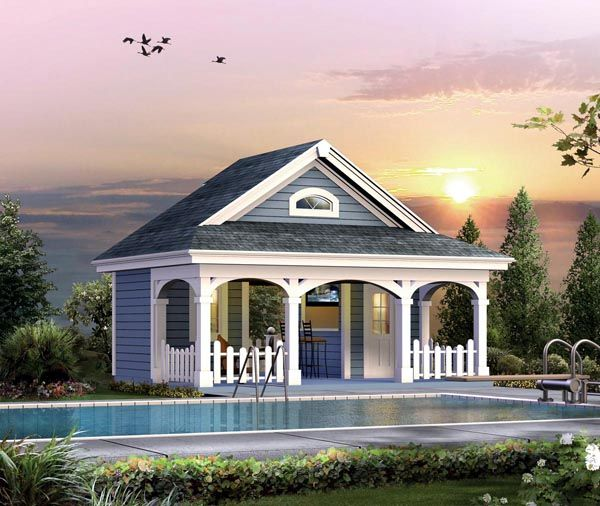 Superb Summerville Pool Cabana Plan Plan House Plans And