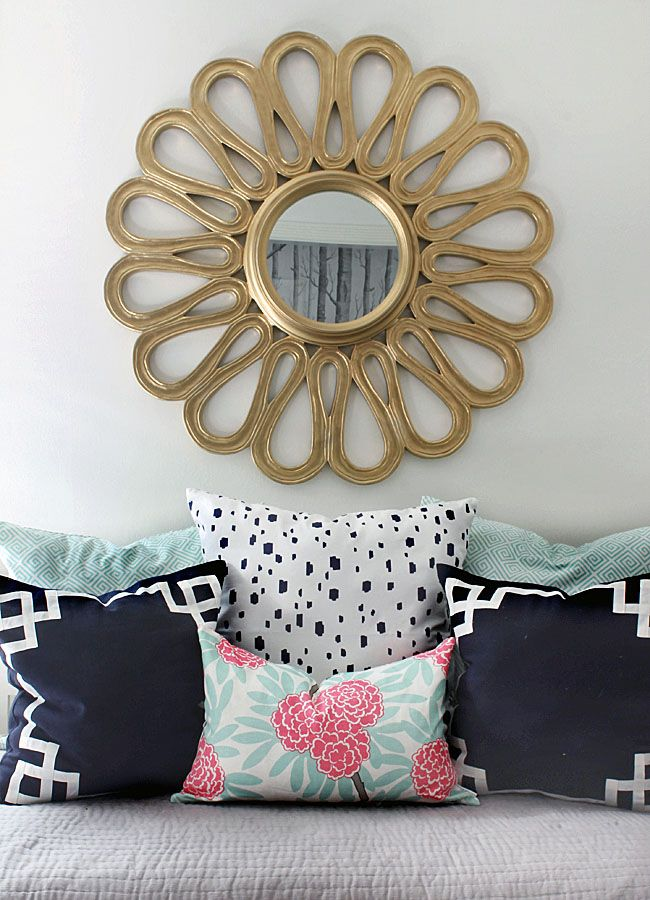 Guestroom Refresh - the Hunted Interior--love these pillows! Caitlyn Wilson textiles
