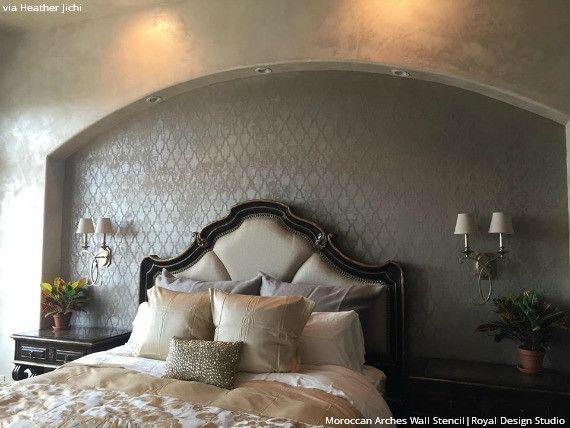 Wall Stencils & Floor Stencils | Moroccan Arches Design | Royal Design Studio