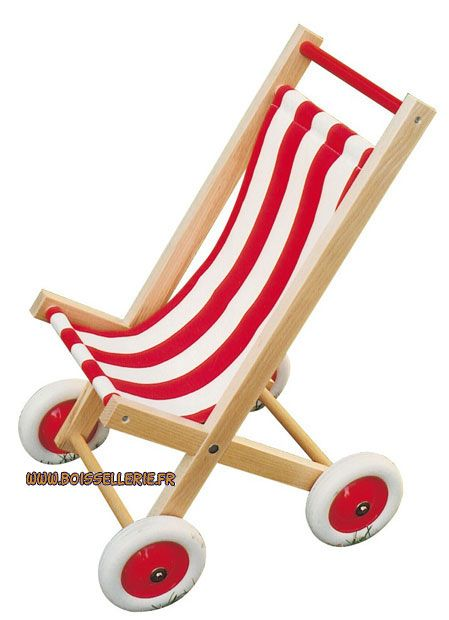 poussette rouge en bois pour poup e 39 bass et bass 39 wooden doll stroller doll strolllers. Black Bedroom Furniture Sets. Home Design Ideas