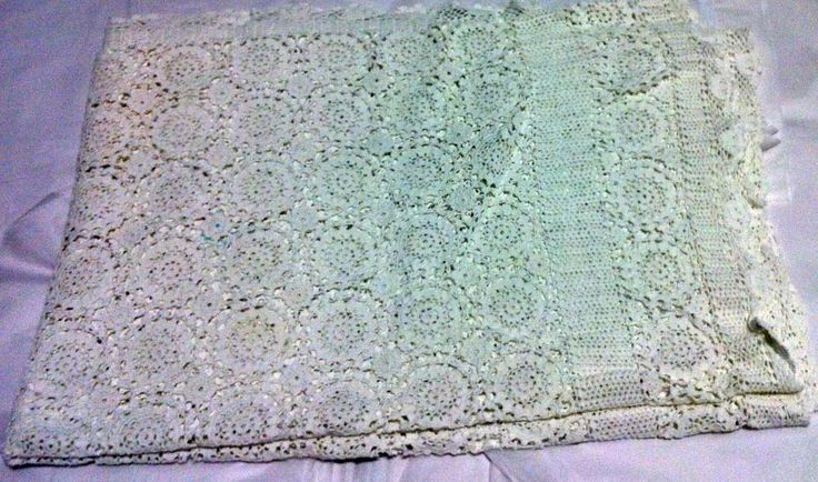 Large crocheted tablecloth