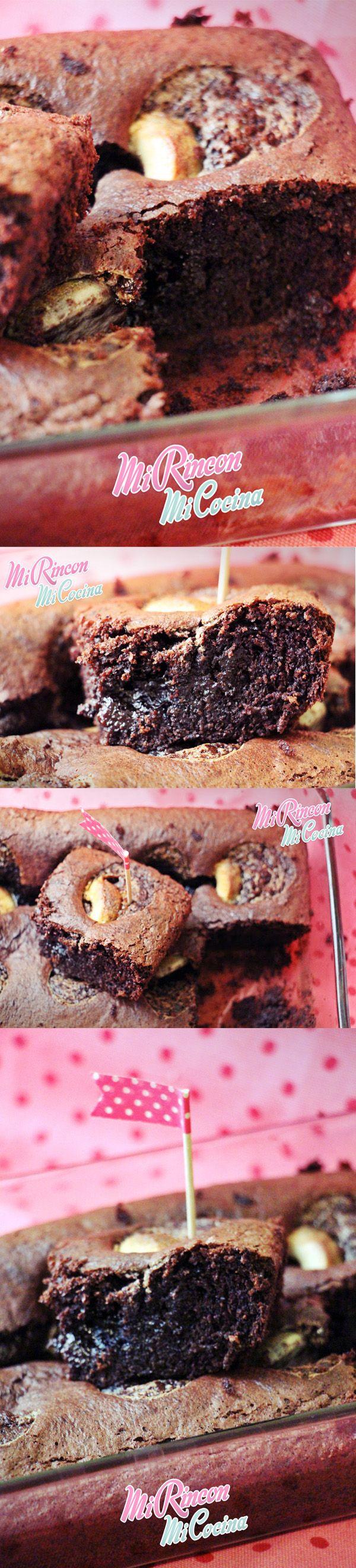 Brownie de almendras y filipinos http://mirinconmicocina.blogspot.com.es/