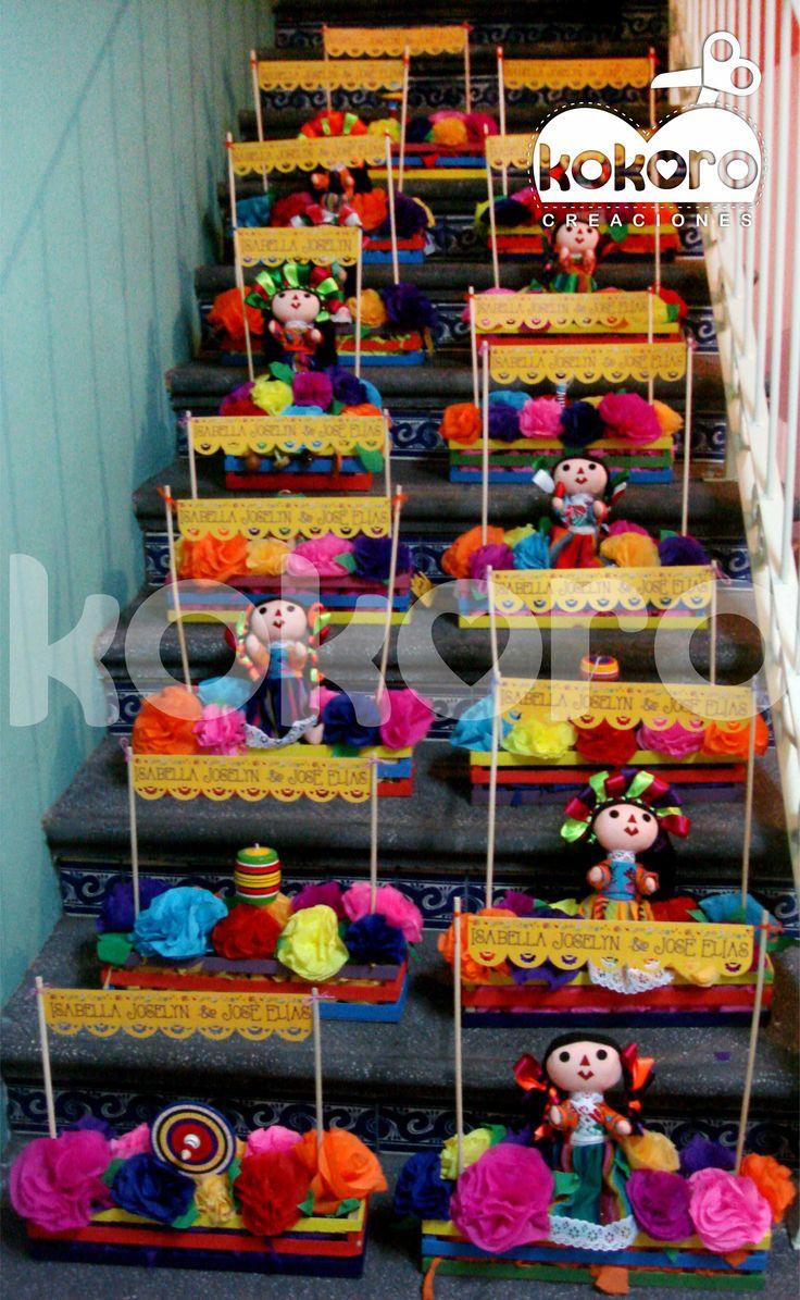 Centro de mesa, fiesta mexicana www.facebook.com/kokorocreaciones
