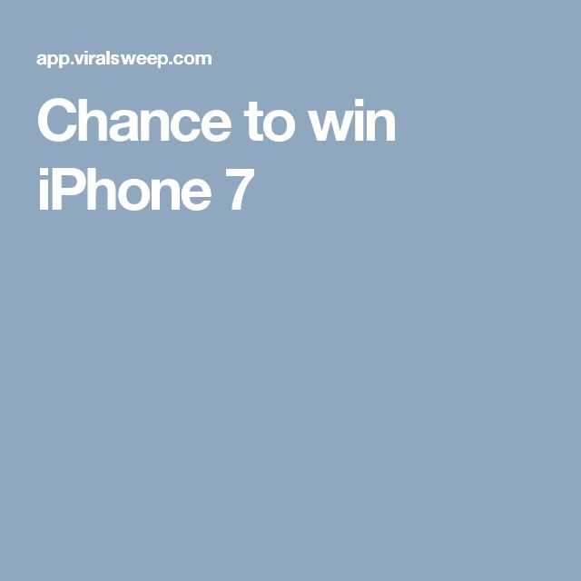 Chance to win iPhone 7